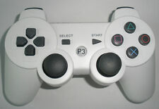 PS3 White Controller for Playstation 3 console, Replacement P3 generic gamepad