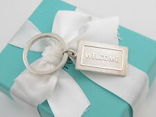 New Tiffany & Co Silver Welcome Mat Keychain Key Ring Chain Box Included