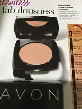 "NEW IN BOX Avon Ideal Flawless Creme-to-powder Foundation ""Caramel"""