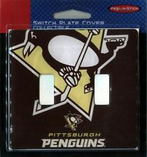 Pittsburgh Penguins NHL Dual Switch Plate Cover