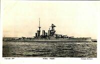 HMS Tiger RPPC postcard real photograph Royal Navy military antique