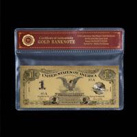 WR 1899 USA 1 $ Ein Dollar Silber Zertifikat Sammlerstück Goldbanknote