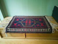 Small 1970s vintage Anatolian Nomad Turkish  RUG Beautiful Handmade Wool Yuruk