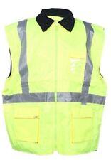 6XL Yellow Fleece Lined Hi Vis Vest