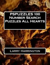 PSPUZZLES 100 Number Search Puzzles All Hearts by Larry Harrington (2015,...