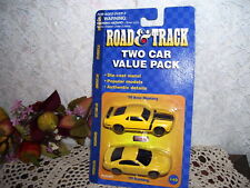 MAISTO ROAD & TRACK TWO CAR MUSTANG VALUE PACK PONY MIP