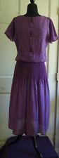 Vintage 80's Alison Peters blowsy dress s. 8 med, flattering, versatile length