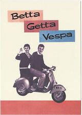 ROBERT  OPIE  ADVERTISING  POSTCARD  -  VESPA  SCOOTER