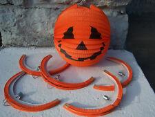 Set of 6 Round Asian Style Hanging Halloween Jack O Lantern Paper Pumpkin Lights
