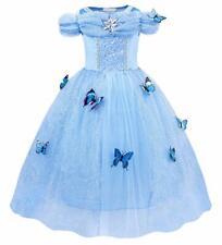 Cinderella Dress Girls Princess Costume Party Dress Up Butterfly Kids Cosplay UK