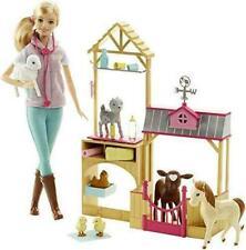 Barbie Farm Vet Playset SET Doll, 7 Animals & Career Accessories Sealed Box