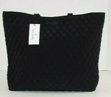 Vera Bradley Classic Pure Black Essential Tote Shoulder SHOPPER or Baby Bag