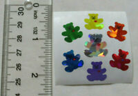 Sandylion MINI BEARS WITH RED HEART, PRISM - 1 Square VINTAGE RETIRED Stickers'