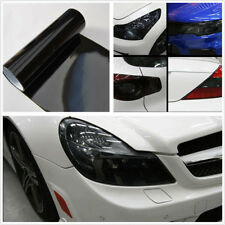 Car Headlight Taillight Gloss Black Vinyl Wrap Film Sheet Overlay Decal Sticker