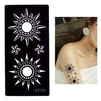 Henna Tattoo Schablone Airbrush Stencil Sterne Kina Dövme