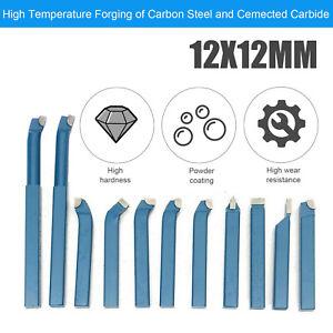 11Pcs 12mm Metal Lathe Tool Set Carbide Tip Cutting Turning tool set Bit