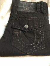 True Religion Men's Super T Ricky Straight Black Denim Jeans Size 38 New w/ tag
