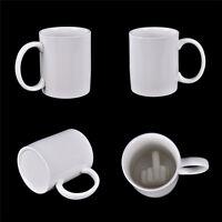 Hasta el tuyo taza del dedo medio taza de café con taza de material de cerámica