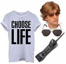 Mens Ladies Choose Life T Shirt George Michael 80s 90s Wham Fancy Dress Costume