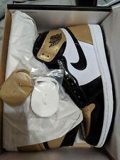 Air Jordan 1 NRG Retro High OG Gold Toe Patent Size 9.5 Brand New Nike