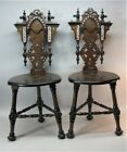 Fine Pair of Antique MIDDLE EAST PERSIAN Side Chairs c. 1930  antique