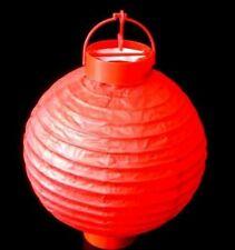 5 x Red Paper Hanging Lantern Battery LED Chinese Party Light