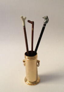 Dolls House Cane Bucket With Canes