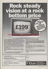 "JVC Monitor Opus ""Rock Steady Vision"" 1985 Vintage Magazine Advert #7701"