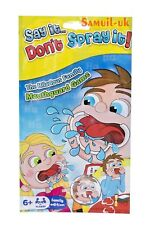 Say It Don't Spray It-Mouthpiece Mouthguard Family Board Speaking Game Travel Pk