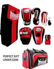 Boxing Gloves Focus Mitts PAD Kick Shield Skipping Rope Kit S M L XL TRAINER SET