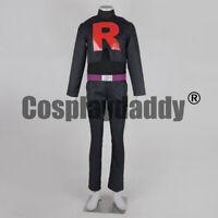 Pokemon Black White Team Rocket James Kojiro Black Uniform Cosplay Costume F006
