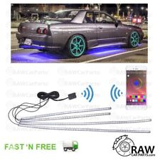 Set of 4 Under Car Glow LED Neon Strip Lights for Bluetooth Android iPhone /JDM