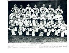 1953 HOLLYWOOD STARS TEAM  PHOTO   BASEBALL CALIFORNIA USA PCL KELLEHER BEARD