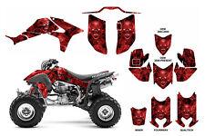 Honda TRX 450R graphics sticker kit FREE Custom Service #9500R Red Zombie