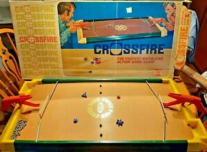 Vintage Ideal Toys 1971 Crossfire Rapid Fire Game with Box, 62 Balls & Extras!!!