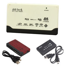 All in 1 SD/SDHC/XD/M2/TF/MS/Compact Flash Memory Card Reader 6 Slots USB 2.0