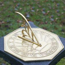 "Solid Polished Brass ""Copernicus"" Octagonal Garden Sundial"