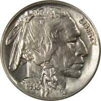 1938 D 5c Indian Head Buffalo Nickel US Coin BU Choice Uncirculated Mint State