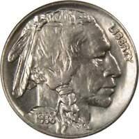 1938-D 5c Buffalo Nickel Choice Uncirculated