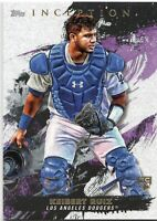2021 Topps Inception Base Card Rookie Card Keibert Ruiz Card Number #33