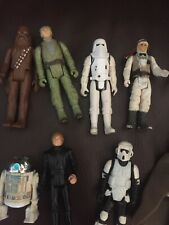 vintage star wars action figures lot 16 total rare used hasbro