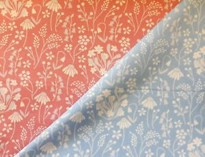 Rose & Hubble 100% Cotton Fabric Bluebell and Daisy 110cm wide
