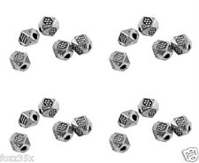 50 x 3.5mm Silver Plated MULTI Faceted Spacer Beads-SP9