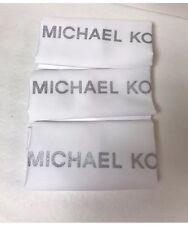 "3 Michael Kors MK Drawstring Dust Bag Purse Tote 22""X22"" White"