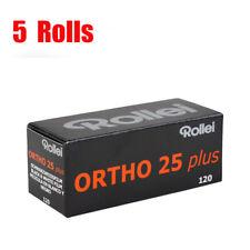 5 Rolls Rollei Ortho25 plus ISO25 120  Black&White Film Fresh 2021