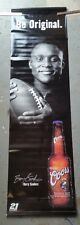 2001 6' tall Coors Beer Barry Sanders 2 sided vinyl banner/Detroit Lions