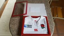 England rugby test Shirt Player issue Match worn Limited Edition World Cup 2015