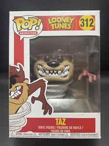 Funko Pop Vinyl TAZ [TASMANIAN DEVIL] #312 LOONEY TUNES (Vaulted) in Protector