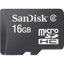 MICRO-SD 16 Go Carte mémoire portable mémoire SDHC Avec SD Adaptateur MicroSD NEUF