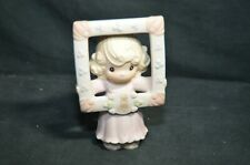Precious Moments Figurine - Collector Club - Little Girl Holding Frame